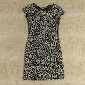 Open back rose mini dress